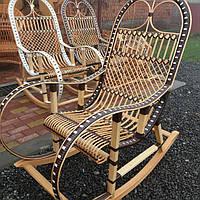 """Кресло-качалка из лозы """"Ротанг коричневый"""""""