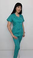 Жіночий медичний костюм Китай бавовна короткий рукав, фото 1