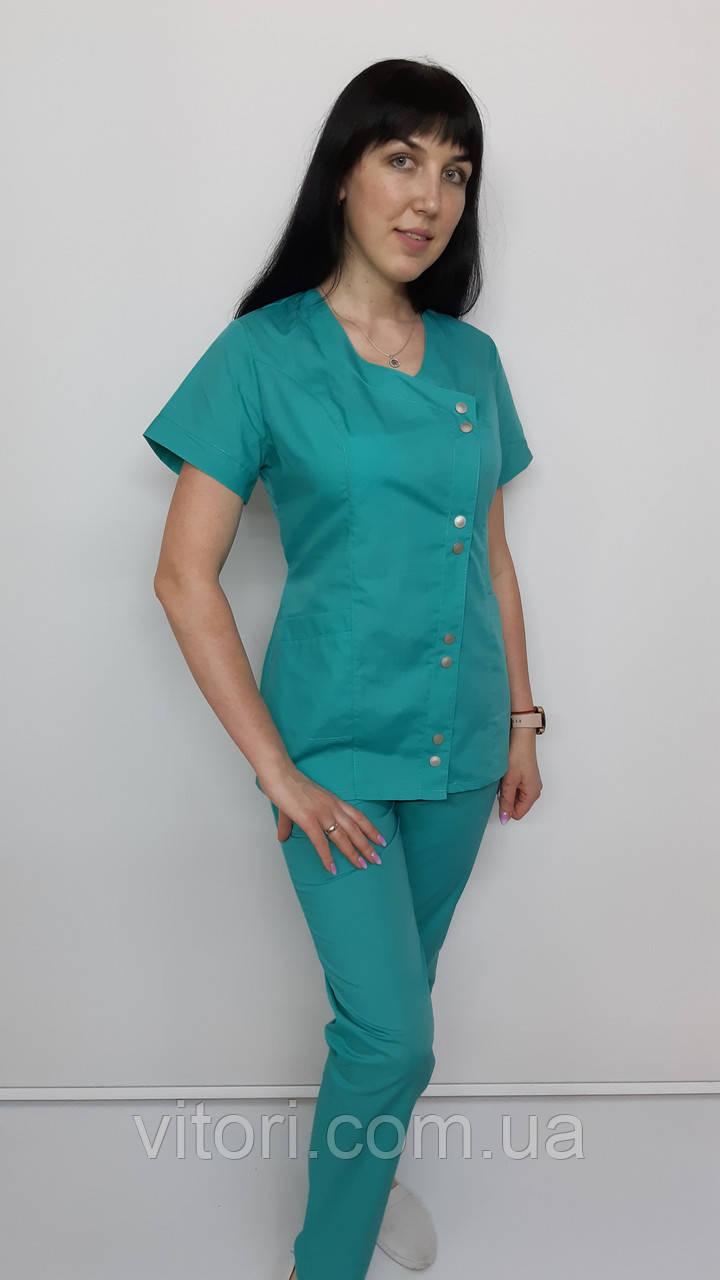 Жіночий медичний костюм Китай бавовна короткий рукав