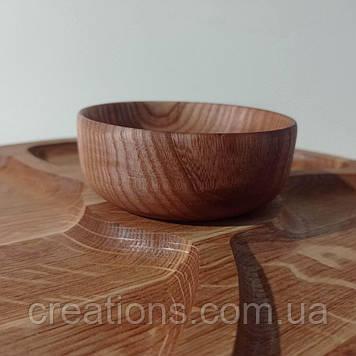 Соусниця дерев'яна 9 см. Точена з торця дерева, піала для подачі соусу
