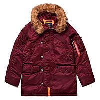 Зимняя куртка аляска Alpha Industries Slim Fit N-3B Parka MJN31210C1 (Maroon)