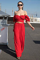 ✔️ Летний повседневный костюм Manisha с широкими брюками 42-46 размера