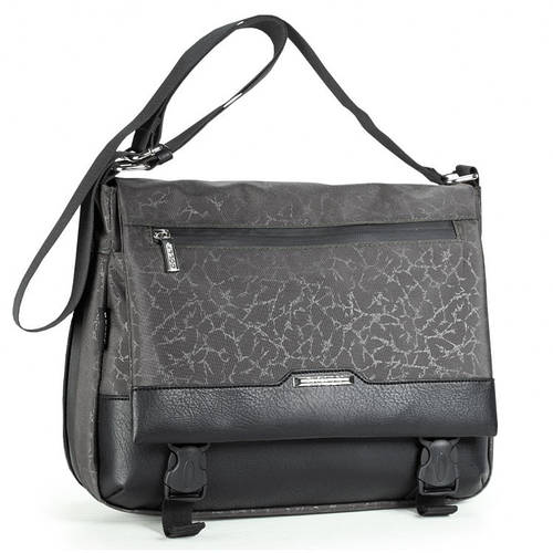 Привлекательная женская молодежная сумка из прочной ткани Dolly (Долли) 640 серый