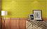Декоративна 3D панель самоклейка під цеглу Жовтий 700х770х5мм, фото 3