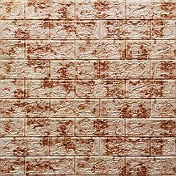 Декоративная 3D панель самоклейка под кирпич Красный мрамор 700x770x5мм
