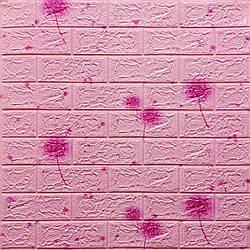 Декоративна 3D панель самоклейка під світло-рожевий цегла Одуваны 700х770х5мм