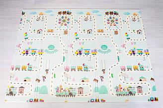 """Розвиваючий килимок дитячий термо """"Атракціон - Ростомір"""" 200х150х1см (238)"""