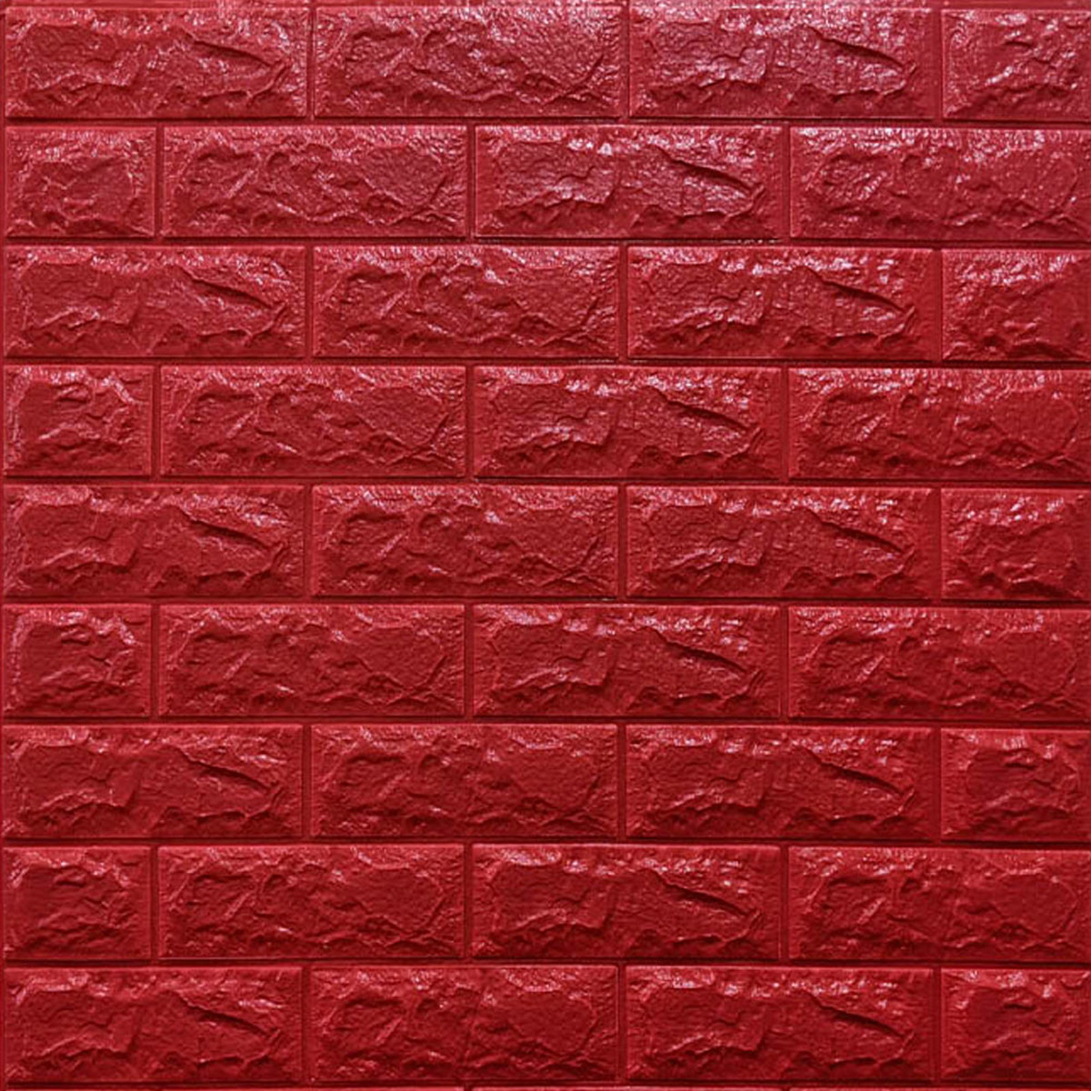 Декоративна 3D панель самоклейка під цеглу Червону 700х770х7мм