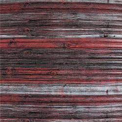 Самоклеюча декоративна 3D панель бамбук червоно-сірий 700x700x8.5мм