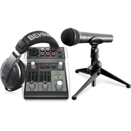 Комплект для звукозапису Behringer PODCASTUDIO 2 USB