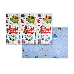 """Розвиваючий килимок дитячий термо """"Автобус+Котики"""" 200х150х1см (242)"""