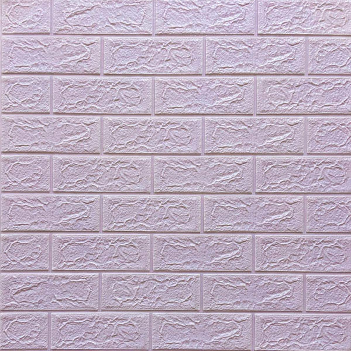 Самоклеющаяся декоративная 3D панель Кирпич  светло- фиолетовый 700x770x5мм