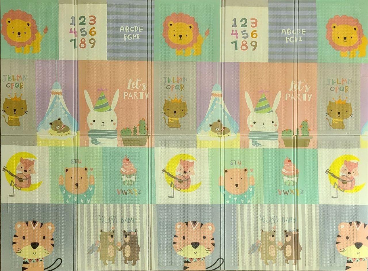 """Дитячий складаний розвиває термо килимок """"Слон + муз.тварини"""" 200х150х1см (249)"""