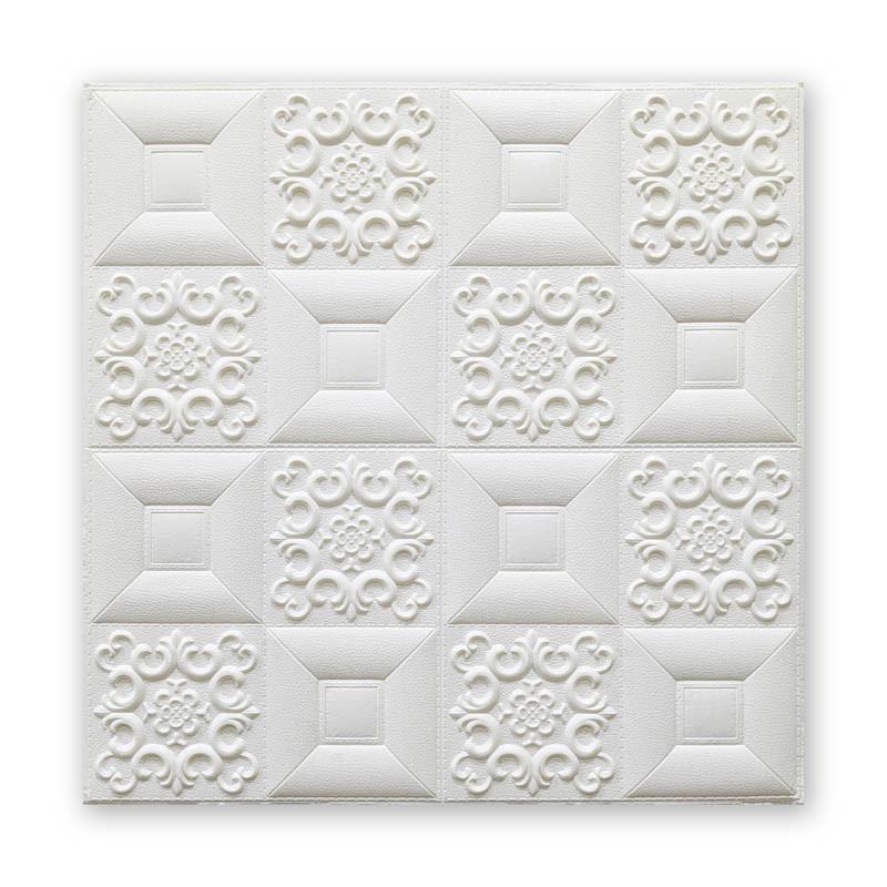 Самоклеюча декоративна потолочно-стінова 3D панель фігури 700х700х5мм