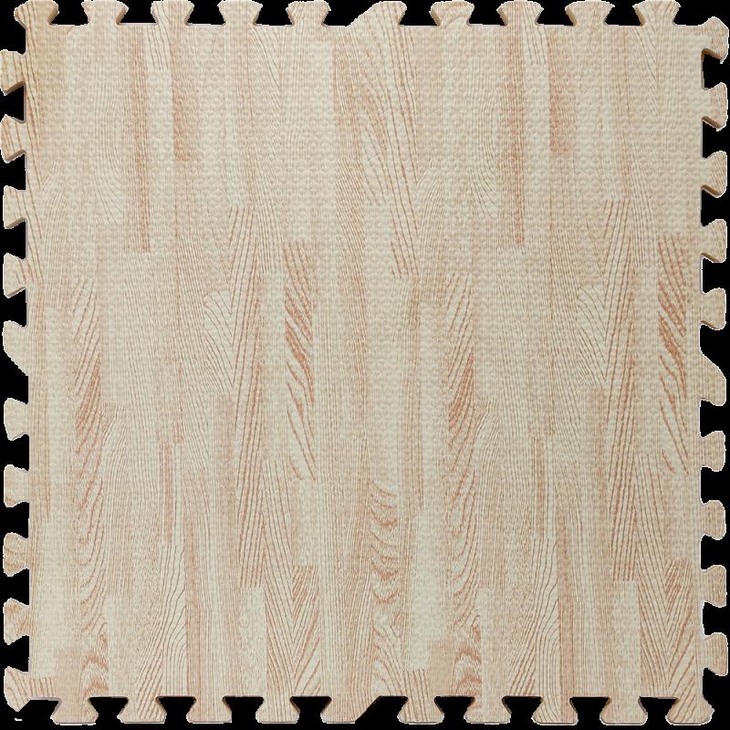 Пол пазл - модульное напольное покрытие 600x600x10мм белое дерево