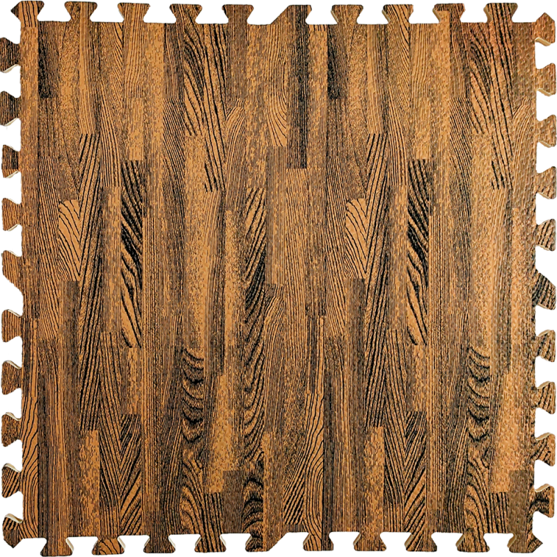 Підлогу пазл - модульне підлогове покриття 600х600х10мм коричневе дерево
