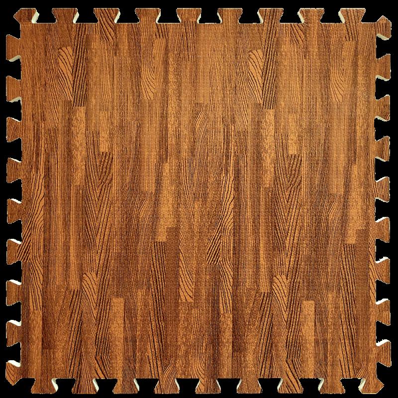 Пол пазл - модульное напольное покрытие 600x600x10мм красное дерево