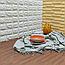 Підлогу пазл - модульне підлогове покриття 600х600х10мм темне дерево, фото 2