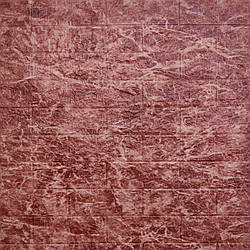 Самоклеющаяся декоративная 3D панель бордовый мрамор 700x770x5мм