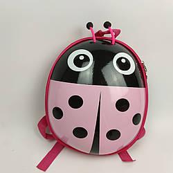 Милый детский рюкзачок Розовый Божья коровка