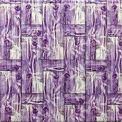Самоклеюча декоративна 3D панель бамбукова кладка фіолет 700x700x8.5мм