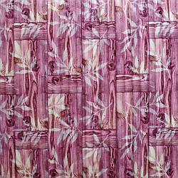 Самоклеюча декоративна 3D панель бамбукова кладка рожева 700x700x8.5мм