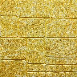 Самоклеящаяся декоративная 3D панель камень желтый мрамор 700х700х7мм