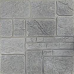 Самоклеящаяся декоративная 3D панель камень серебро 700х700х8мм