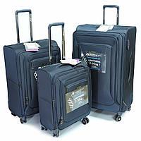 Комплект из трех чемоданов Airtex 838 на 4 колесах, синий, фото 1