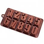 Форма силиконовая для конфет Цифры прямоугольные
