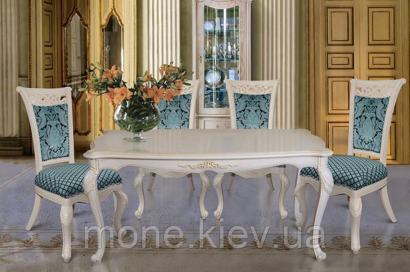 Обеденный прямоугольный стол в классическом стиле