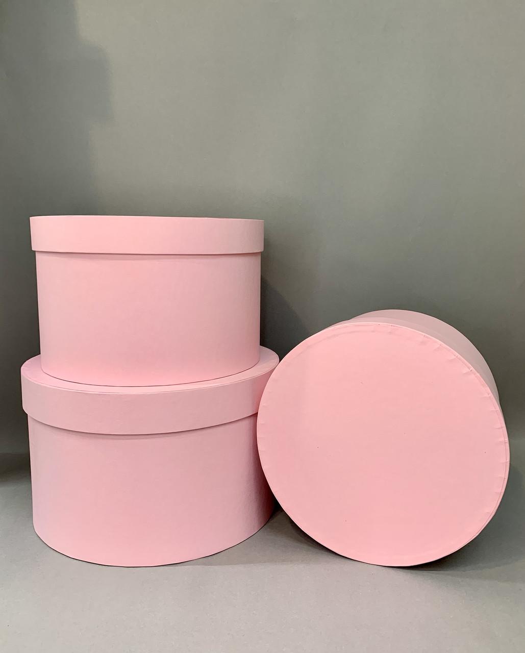 Коробка большая низкая с кр.(розовый мат )
