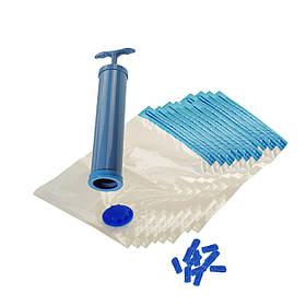 Набір вакуумних пакетів для зберігання одягу 20 шт з насосом КОД: 5894