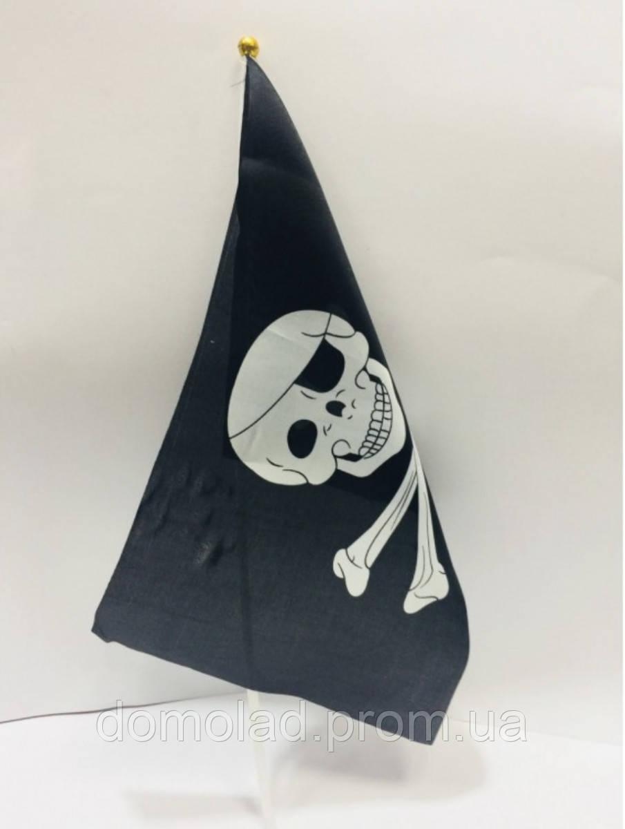 Пиратский Флаг с Черепом 19*33 см в Упаковке 10 шт