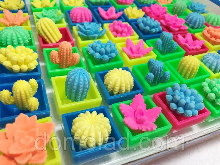 Прикольна Іграшка Декоративний Кактус Росте у Воді в Упаковці 48 шт