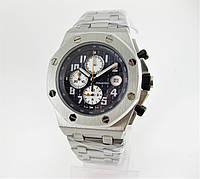 Часы Audemars Piguet Royal Oak Offshore Chronograph 43mm Silver/Blue. Реплика: AAA