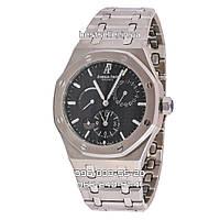 Часы Audemars Piguet Royal Oak 42mm (Механика ETA) Silver/Black. Реплика: AAA