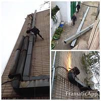 Установка вентиляционных каналов на высоте, фото 1