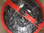 Медогонка 2-х рамочная нержавеющая, поворотная, кассеты из нержавеющей стали (КЗ), фото 2