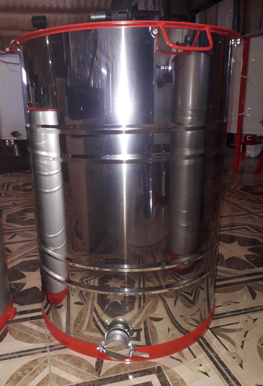 Медогонка 2-х рамочная нержавеющая, поворотная, кассеты из нержавеющей стали (КЗ)