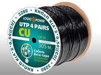 Кабель UTP 4x2x0.50mm CU со стальной проволокой 1*1.4mm (для наружной прокладки)