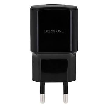 Сетевая зарядка Borofone BA48A 2.1A адаптер 1 USB + кабель Type C Черный