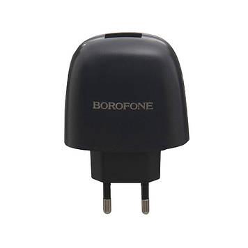 Сетевая зарядка Borofone BA49A 2.1A адаптер 1 USB + кабель Lightning Черный