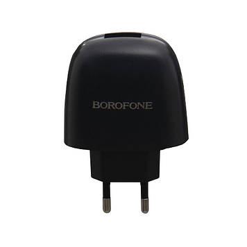 Сетевая зарядка Borofone BA49A 2.1A адаптер 1 USB + кабель Micro USB Черный