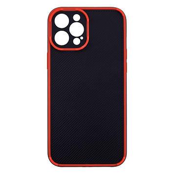 Чехол Magic Eye для Apple iPhone 12 Pro Max Черно-Красный