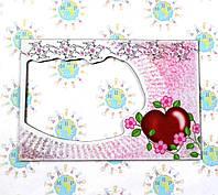 Магнитная рамка на холодильник Сердце