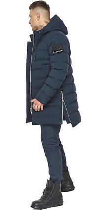Модная мужская куртка зимняя тёмно-синяя модель 49023, фото 2