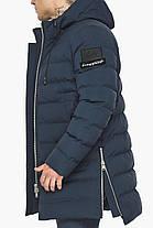Модная мужская куртка зимняя тёмно-синяя модель 49023, фото 3