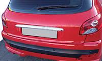 Хром накладка над номером Peugeot 206 (Omsa, Abs)