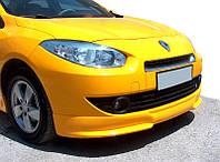 Renault Fluence Передняя нижняя юбка под покраску